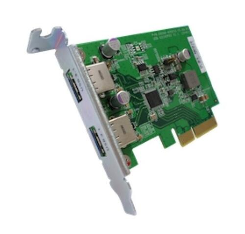 Dual-port USB 3.1 Type-A Gen 2 10Gbps PCIe card