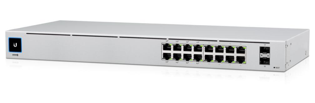 16-Port Gen2 UniFi Gigabit Managed PoE+ Switch, 2x SFP, 8x PoE Ports