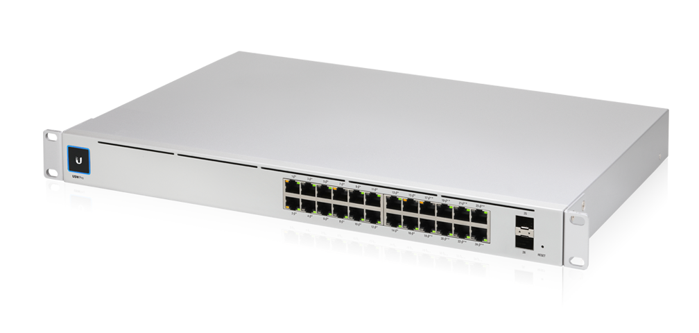 24-Port UniFi Pro Gigabit Managed PoE+ Switch, Gen2, with 2x SFP+