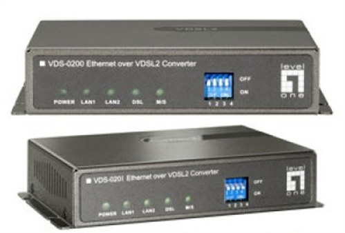 Ethernet over VDSL2 Extender Pair, Pre configured for Point-to-Point Ethernet data link over single twisted copper pair