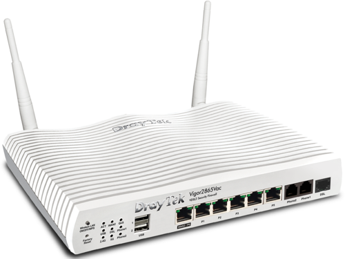 ADSL / VDSL / UFB Router with Firewall and VPN, VoIP, 11ac WiFi