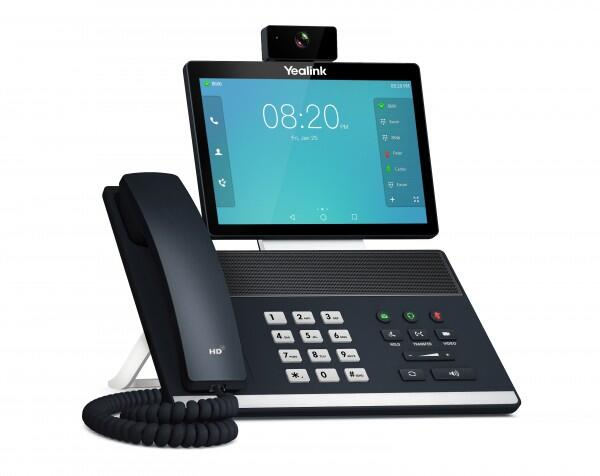 Smart Video IP Phone with HD camera and 1280x800-pixel touchscreen