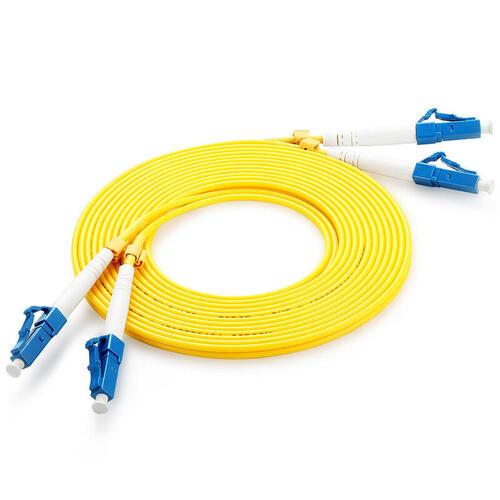 Fibre Optic Duplex Patch Cord 9/125µm Single-mode OS2, LC-LC, 2m, Yellow