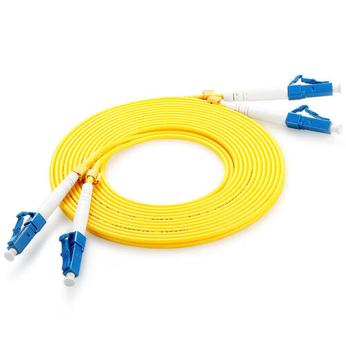 Fibre Optic Duplex Patch Cord 9/125µm Single-mode OS2, LC-LC, 5m, Yellow