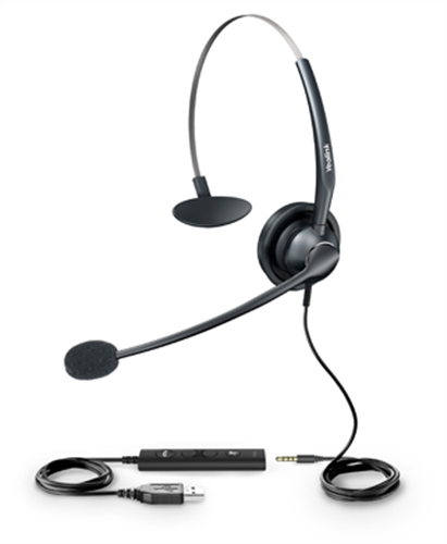 Headset with USB and 3.5mm connectors