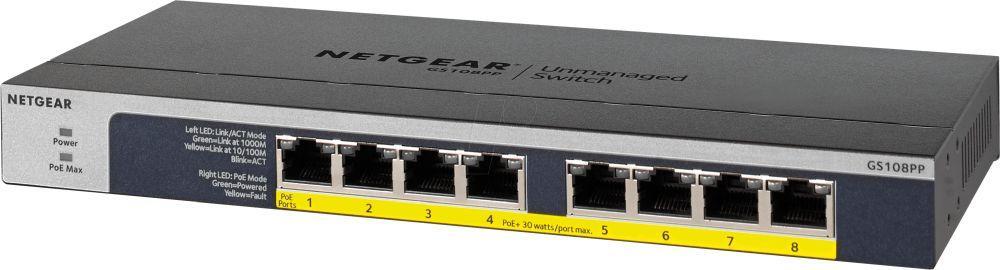 NETGEAR GS108PP-100AJS