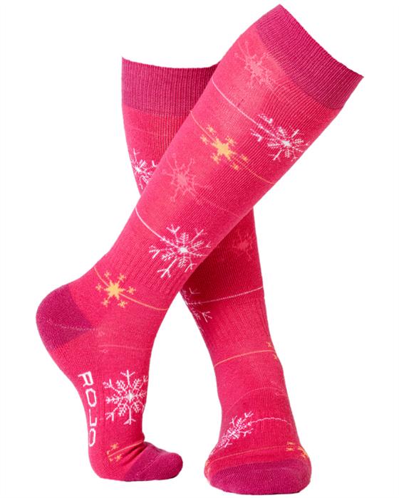 Rojo Snowflake Girls Sock