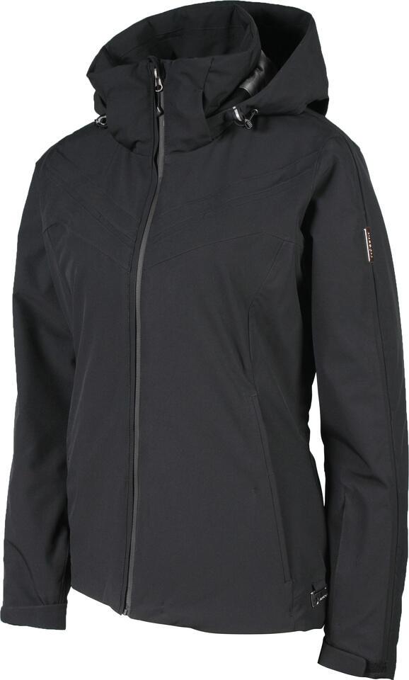 Karbon Amethyst Wmns Jacket with Fur - Black/Black