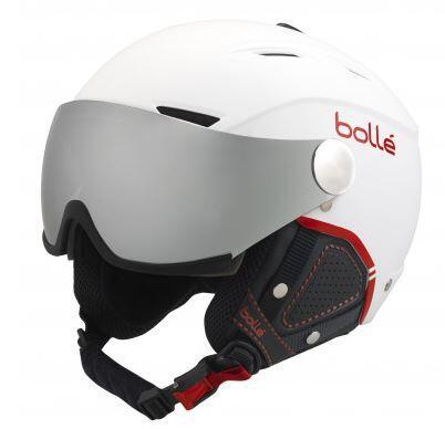 Bolle Backline Visor Premium Helmet - Soft White Red