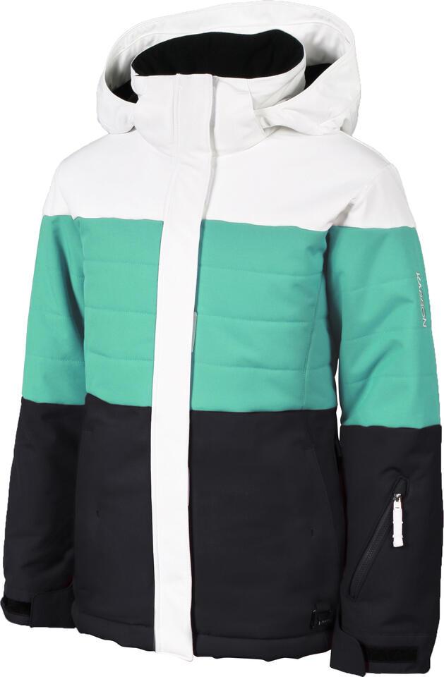 Karbon Elektra Kids Jacket - Arctic White/Seafoam/Black