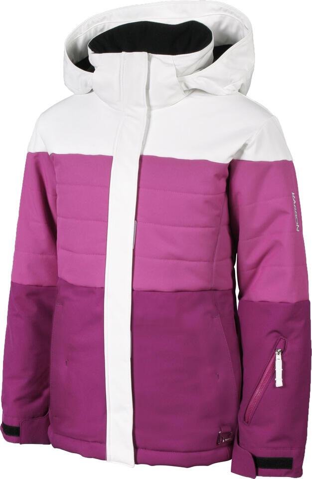 Karbon Elektra Kids Jacket - Arctic White/PinkRasp/Mulberry