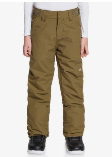 Quiksilver Estate Kids Pant - Military Olive