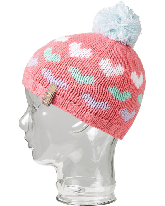 Rojo Hearts Girls Beanie