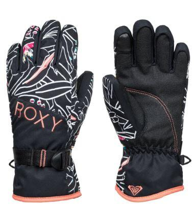 Roxy Jetty Kids Glove - True Black Outlines