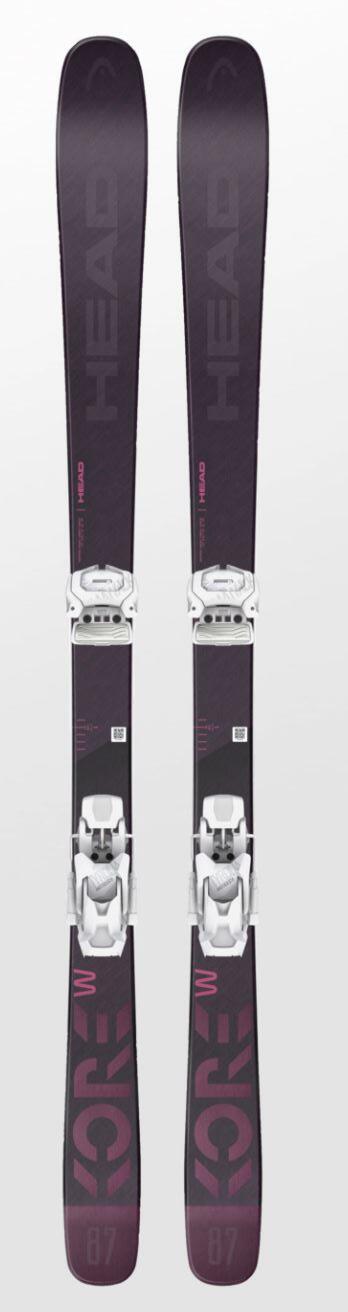 Head Kore 87  Wmns Ski + Attack2 12 GW Binding