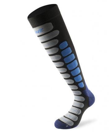 Lenz Skiing 2.0 Ski Sock - Black/Blue