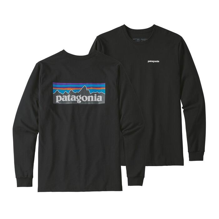 Patagonia Logo Responsibili-Tee L/S Top - Black