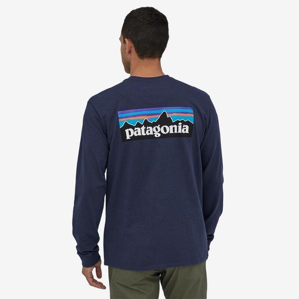 Patagonia Logo Responsibili-Tee L/S Top - Classic Navy