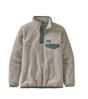 Patagonia Lightweight Synchilla Snap-T Kids Pullover - Oatmeal Heather