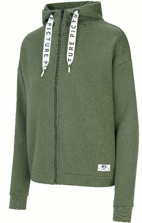Picture Mell Zip Wmns Hoodie - Army Green
