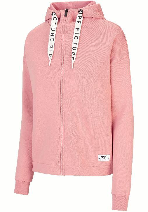 Picture Mell Zip Wmns Hoodie - Misty Pink