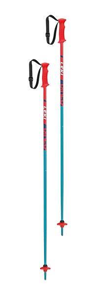 Leki Rider Jnr Kids Ski Pole - Red/Blue