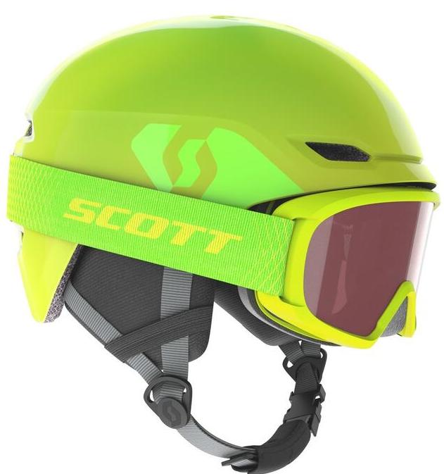 Scott Keeper 2 Kids Helmet + Witty Goggle - High Viz Green
