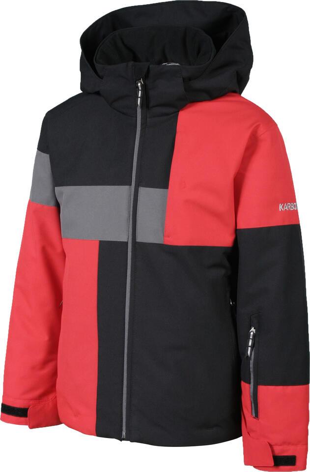 Karbon Thrust Kids Jacket - Black/Red/Crater Grey