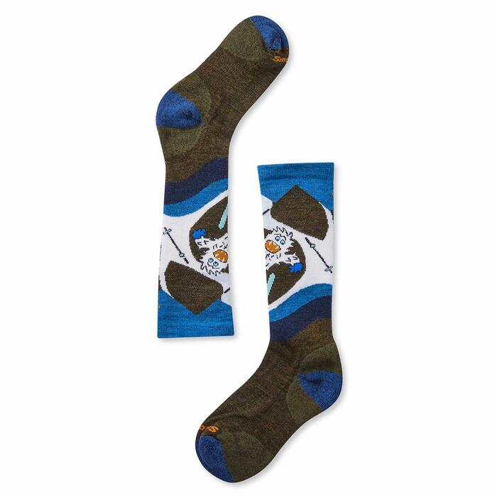 Smartwool Wintersport Yo Yetti Kids Sock - Military Olive