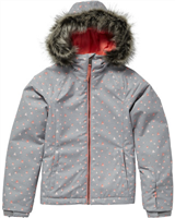 O'Neill PG Curve Kids Jacket - Grey AOP Pink