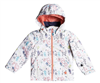 Roxy Mini Jetty Jacket - Bright White Animals