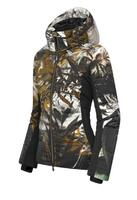 Descente Hana Down Wmns Jacket - Black Kahori Maki Print
