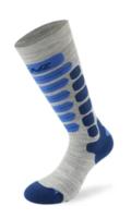 Lenz Skiing 2.0 Kids Socks - Light Grey/ Blue