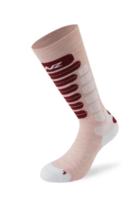 Lenz Skiing 2.0 Kids Socks - Pink/ White/ Red