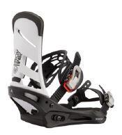 Burton Mission Snowboard Binding - White/Black