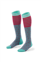 Mons Royale Lift Access Wmns Sock Spots & Stripe
