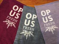Opus Fresh Unisex Snowflake Print Neck Warmer - Denim Blue