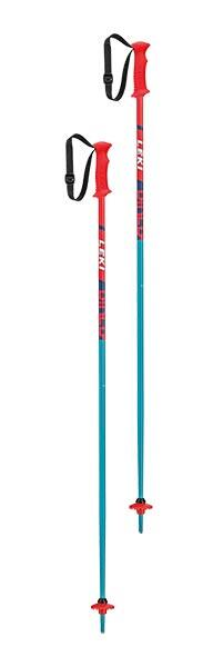 Leki Rider Jnr Kids Ski Pole - Red/Blue