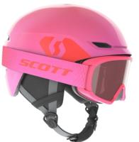 Scott Keeper 2 Kids Helmet + Witty Goggle -  High Viz Pink