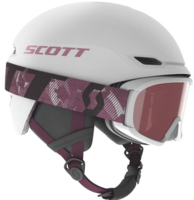 Scott Keeper 2 Kids Helmet + Witty Goggle - White Pearl/Cassis Pink