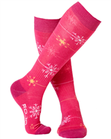 Rojo Snowflake Girls Sock
