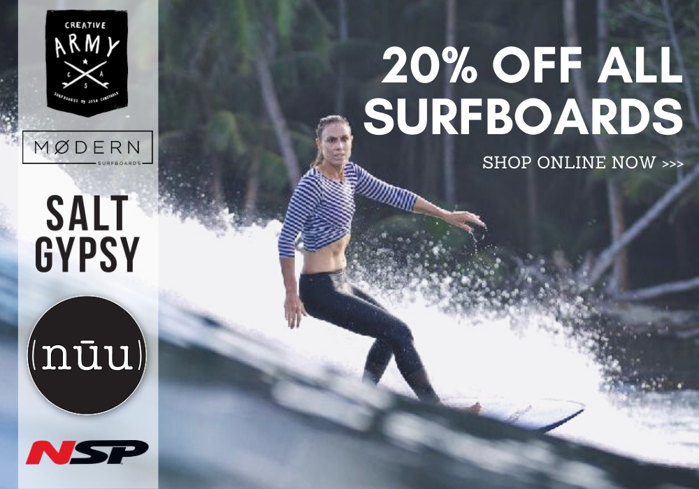 20% Off All Surfboards