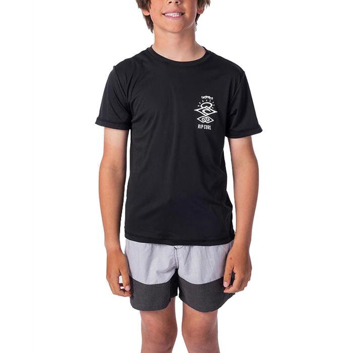 RIPCURL BOYS SEARCH LOGO SHORT SLEEVE RASH TOP