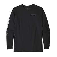 PATAGONIA M's L/S Text Logo Responsibili-Tee - BLK