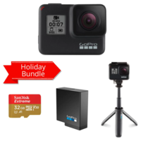 GOPRO HERO7 BLACK HOLIDAY BUNDLE WITH SD CARD